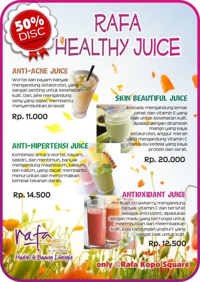 Juice for anti-acne, antioxidant, anti-hipertensi & beautiful skin