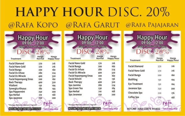 Happy Hour @Rafa Health and Beauty Lifestyle