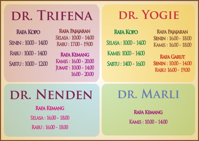 Jadwal Dokter Rafa Clinic Beauty Clinic