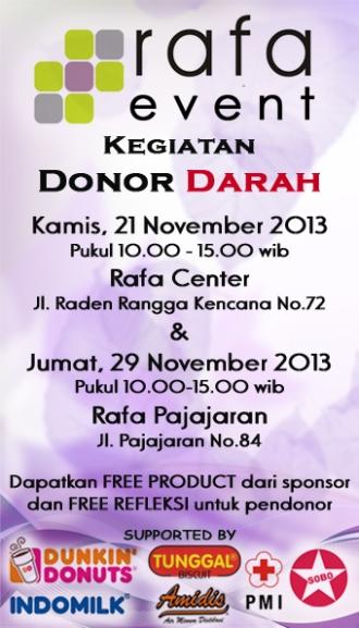Event DONOR DARAH November 2013 | Rafabeauty's Blog