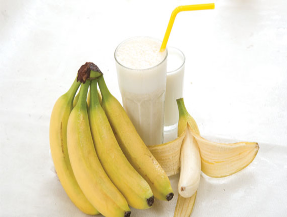 Banana milk shake ingreds
