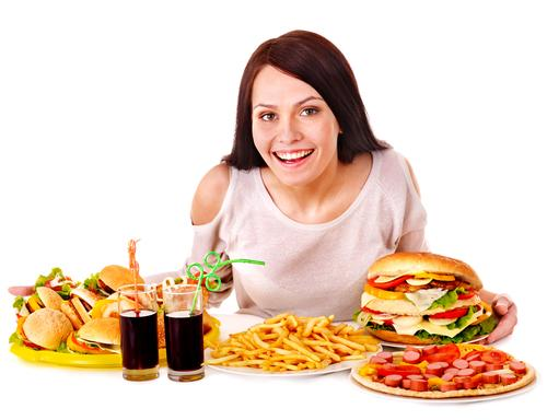 woman-eating-fast-food-alone